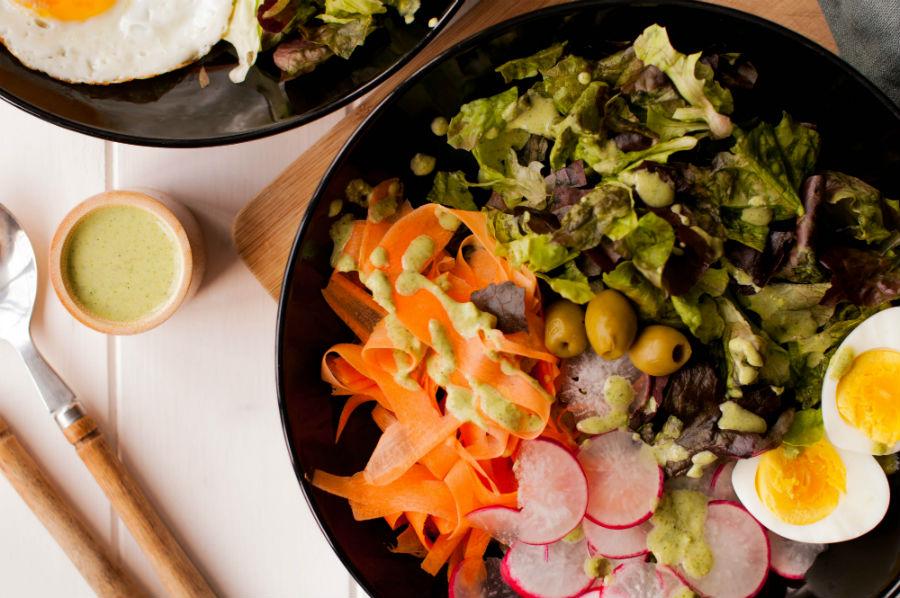 salade aux légumes crus